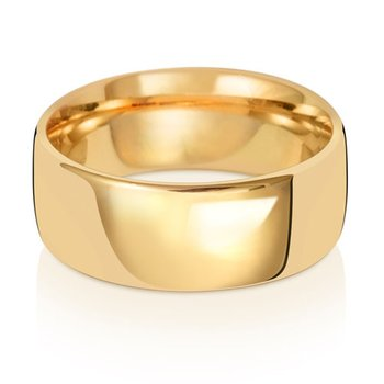 9Ct Yellow Gold 8mm Slight Court Wedding Ring