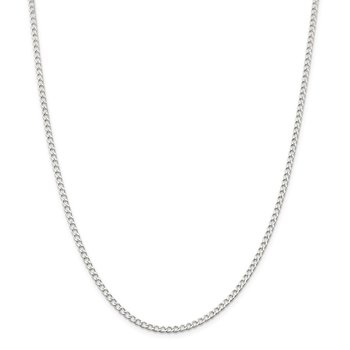 Sterling Silver 2.8mm Open D/C Curb Chain Anklet