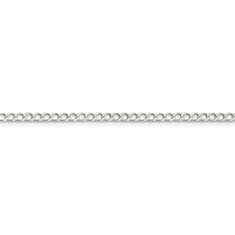 Quality Gold Sterling Silver 2.8mm Open D/C Curb Chain Anklet