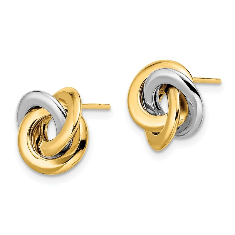 Leslie's Leslie's 14K Two-tone Polished Love Knot Earrings