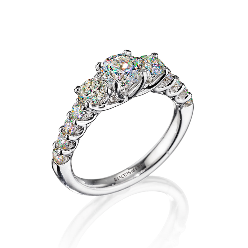 Facets of Fire Diamond Engagement Ring