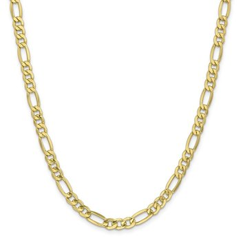 Leslie's 10k 6.6mm Semi-Solid Figaro Chain