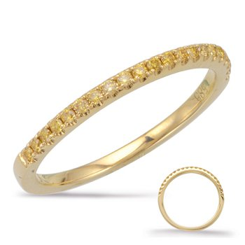 Yellow Diamond Wedding Band Yellow Gold