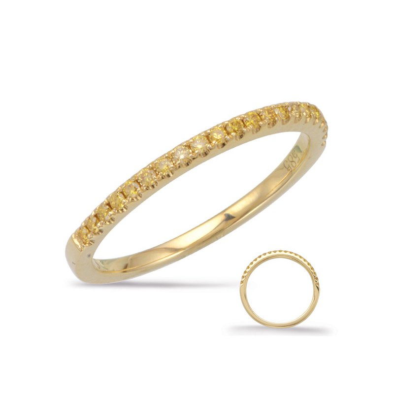 S. Kashi & Sons Bridal Yellow Diamond Wedding Band Yellow Gold