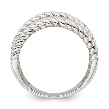 Sterling Silver Polished Fancy Ring