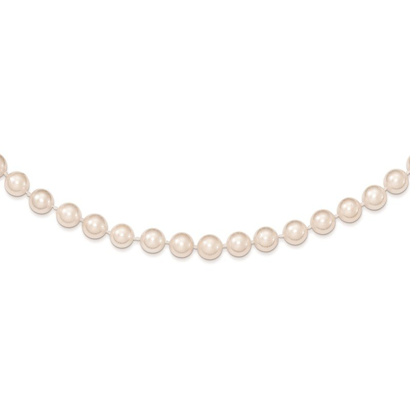 J.F. Kruse Signature Collection 14k 6-7mm Round White Saltwater Akoya Cultured Pearl Necklace