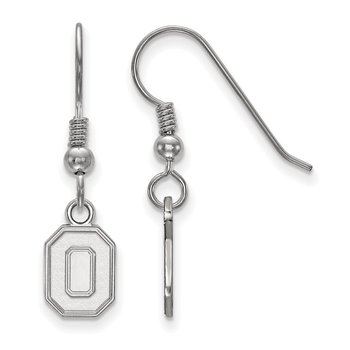 Sterling Silver Ohio State University NCAA Earrings