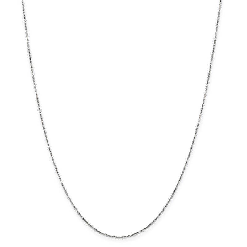 Leslie's Leslie's 14K White Gold .8 mm Round Cable Chain