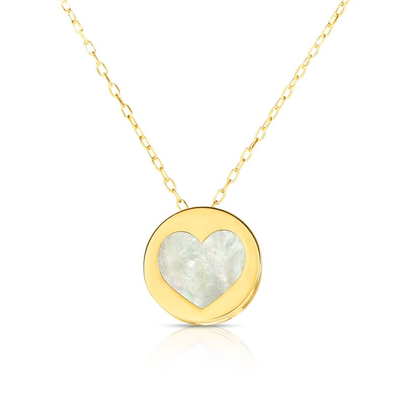 Royal Chain 14K Gold Heart Mother of Pearl Necklace