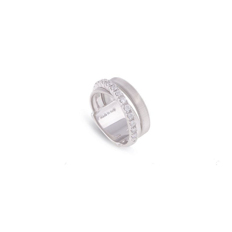 Marco Bicego Masai Three Strand White Gold and Diamond Ring