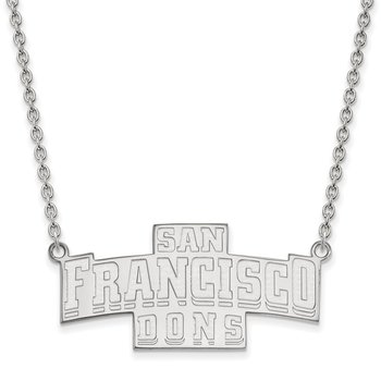 Sterling Silver University of San Francisco NCAA Necklace