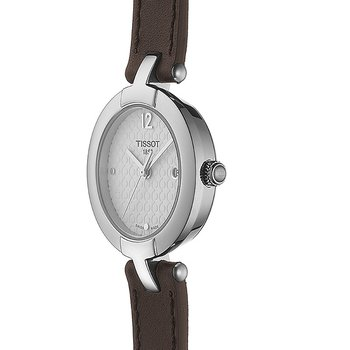 Pinky Ladies Quartz Watch with Dark Brown Double Leather Strap