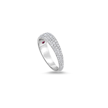Ring With Diamonds &Ndash; 18K White Gold, 8