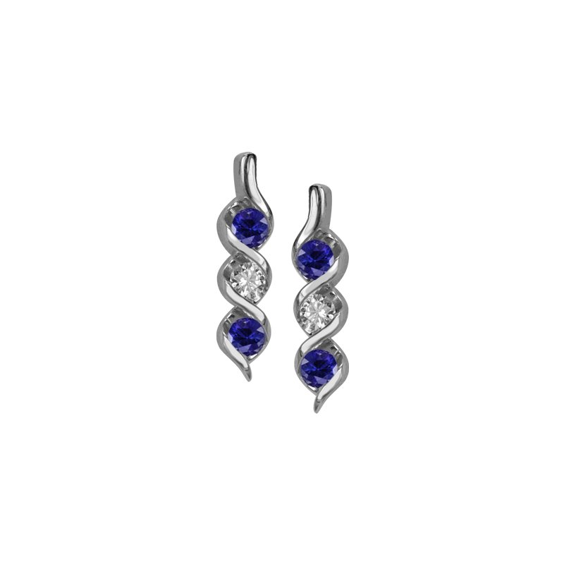 Max Strauss Sapphire and Diamond Earrings