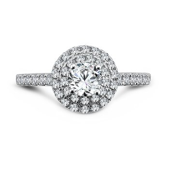 Luxury Collection Halo Engagement Ring in 14K White Gold (1/2ct. tw.)