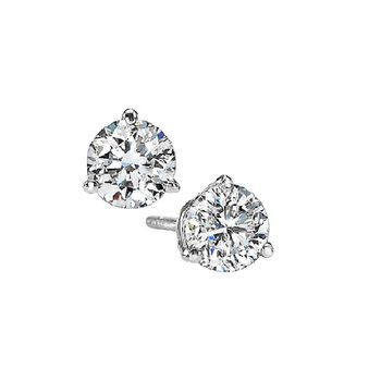 Martini Diamond Stud Earrings in 14K White Gold (1/5 ct. tw.) I1 - G/H