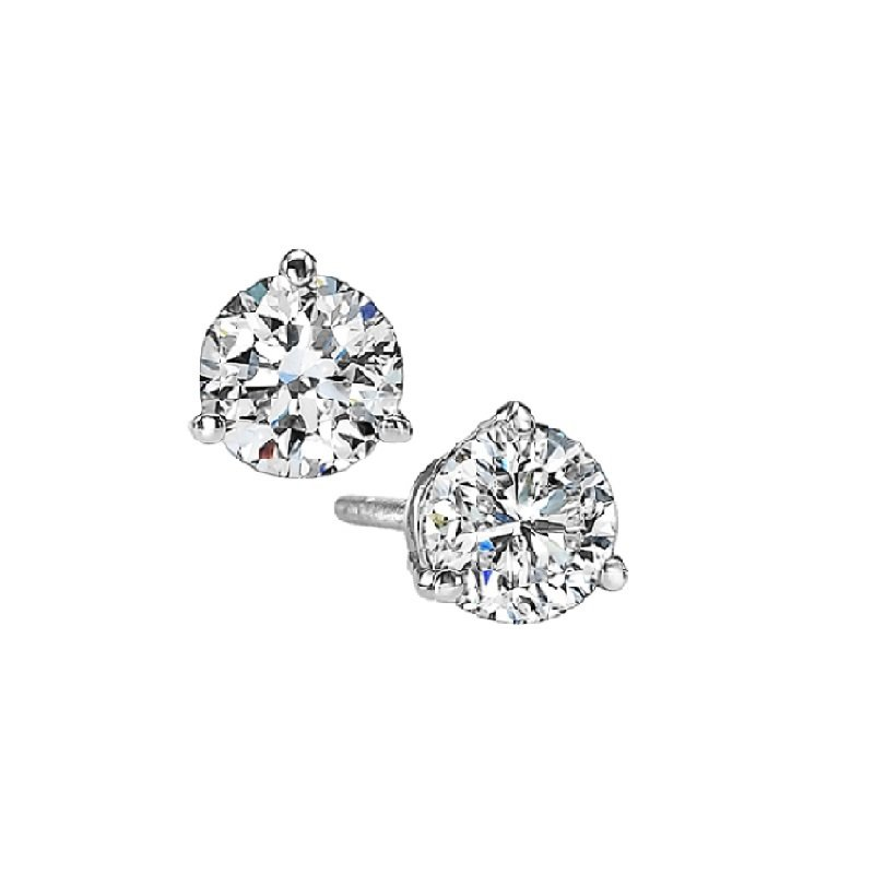Gems One Martini Diamond Stud Earrings in 14K White Gold (1/5 ct. tw.) I1 - G/H