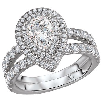 Split Shank Semi-Mount Diamond Ring