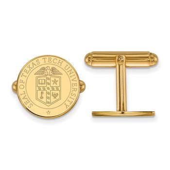 Gold Texas Tech University NCAA Cuff Links