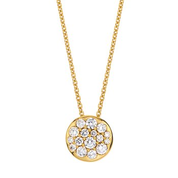 Yellow Gold Diamond Round Tango Pendant