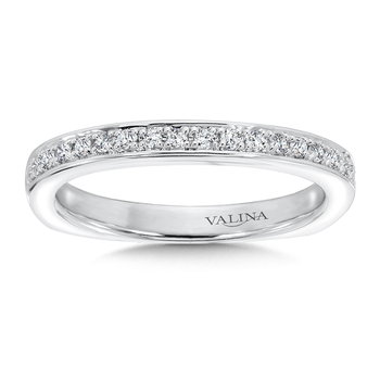 Diamond and 14K White Gold Wedding Band (0.19 ct. tw.)