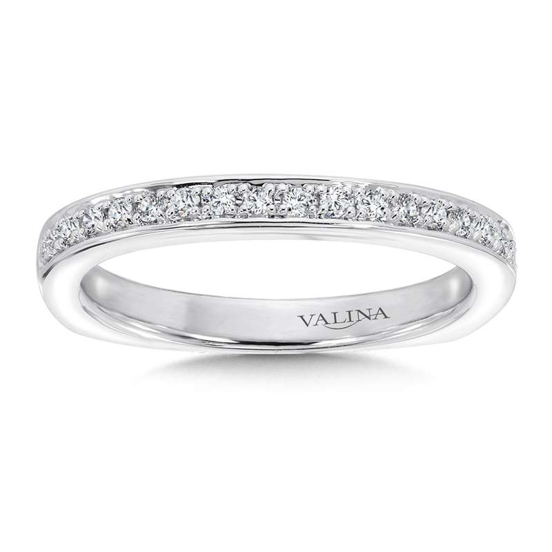 Valina Diamond and 14K White Gold Wedding Band (0.19 ct. tw.)