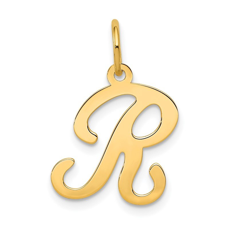 Quality Gold 14KY Script Letter R Initial Charm