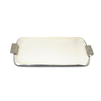 "21"" Rectangular Tray with Handles Cloud"