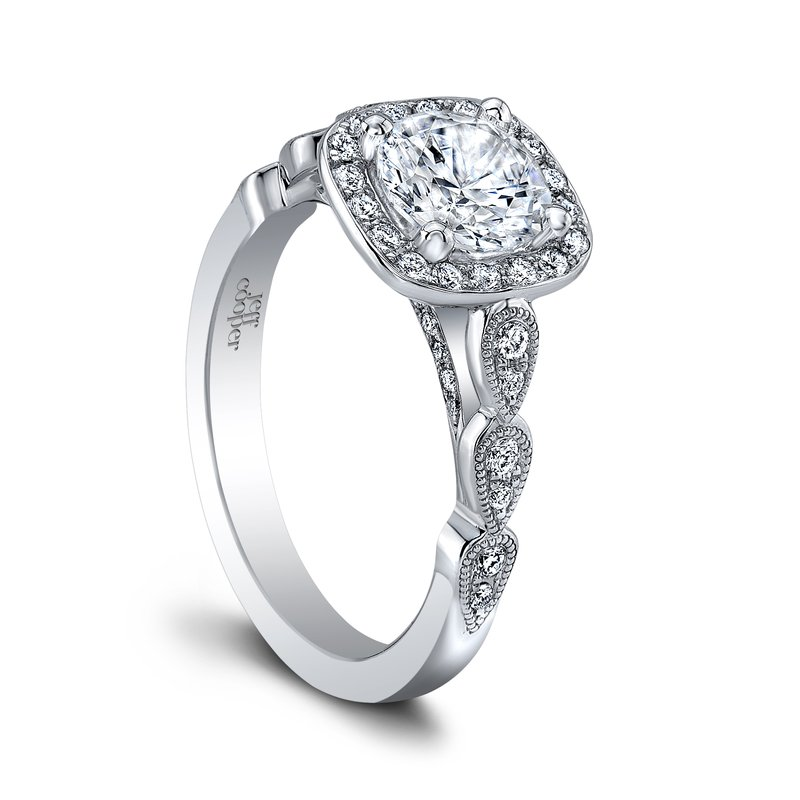 Jeff Cooper Lily Halo Engagement Ring