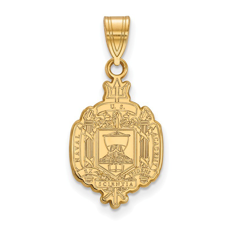 NCAA Gold-Plated Sterling Silver United States Naval Academy NCAA Pendant
