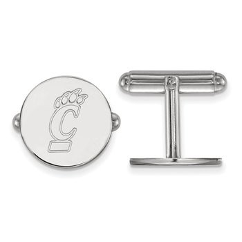 Sterling Silver University of Cincinnati NCAA Cuff Links