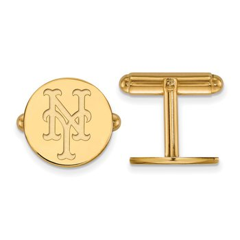 Gold New York Mets MLB Cuff Links