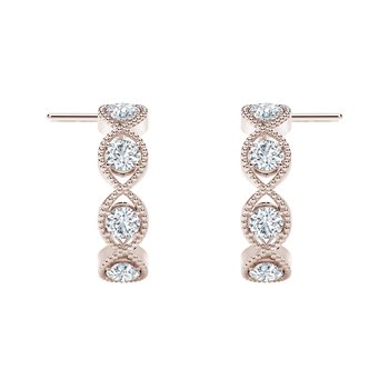 The Forevermark Tribute™Collection Braided Hoop Earrings