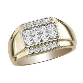 14K 0.75Ct Daim Men&Apos;S Ring