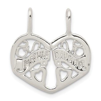 Sterling Silver Mother/Daughter Break apart Charm