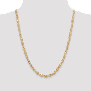 14k 4mm Marquise Rope Chain