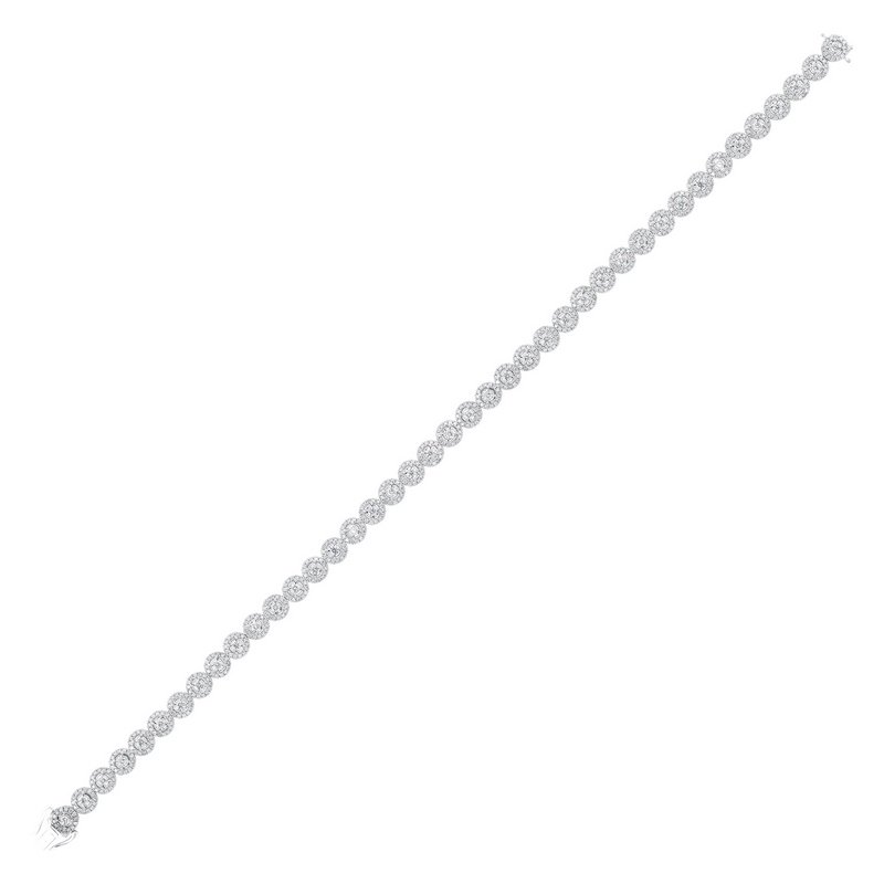 Gems One Tru Reflections Prong Diamond Bracelet in 14K White Gold (3 ct. tw.)
