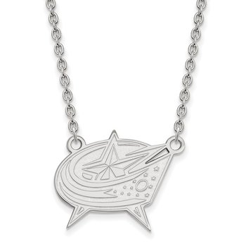 Sterling Silver Columbus Blue Jackets NHL Necklace