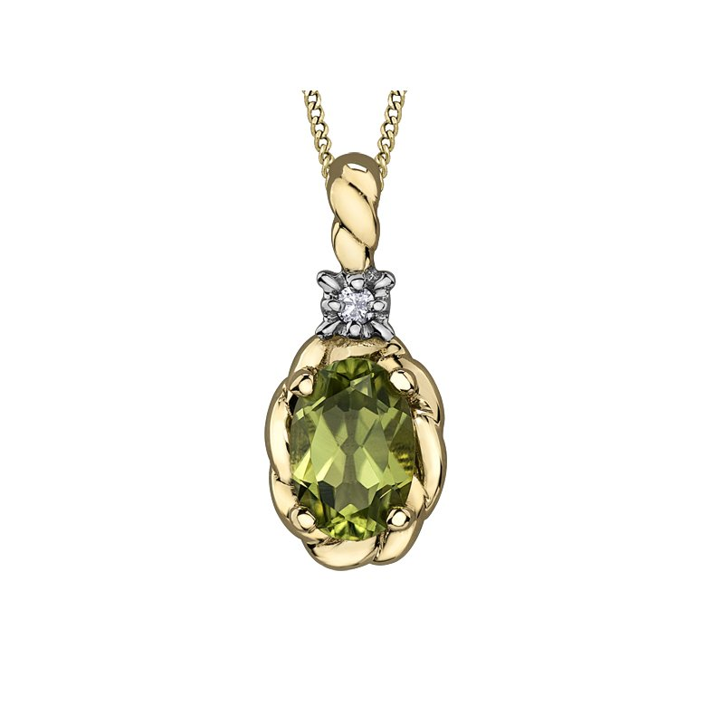 Diamond Days Peridot Pendant
