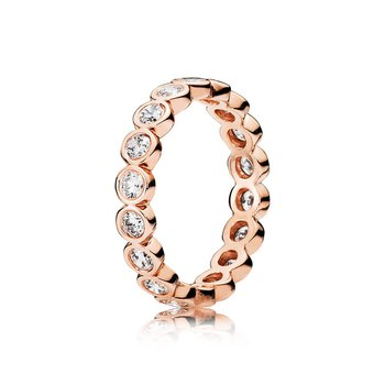 Alluring Brilliant Stackable Ring, PANDORA Rose™ & Clear CZ