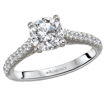 Diamond Semi-Mount Diamond Ring