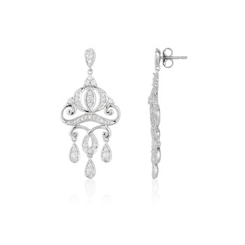 14KW 1/2CTW Cinderella Carriage Earring