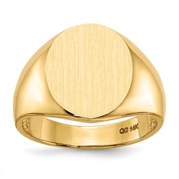 14k 11.5mm x12.5mm Open Back Men's Signet Ring