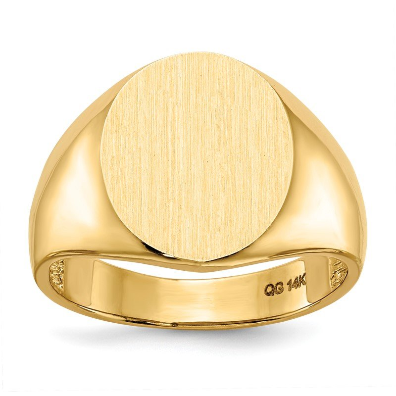 Quality Gold 14k 11.5mm x12.5mm Open Back Men's Signet Ring