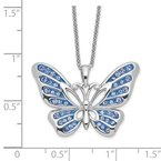 Quality Gold Sterling Silver Swarovski Crystal Never Give Up Butterfly18in Necklace