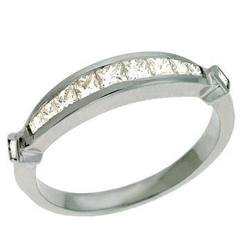Diamond Band Princess Cut