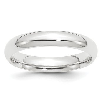 Platinum 4mm Comfort-Fit Wedding Band