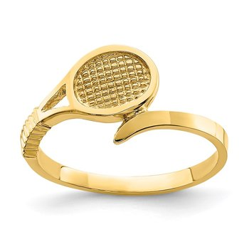 14K Polished Tennis Racket Ring