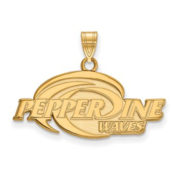 Gold Pepperdine University NCAA Pendant