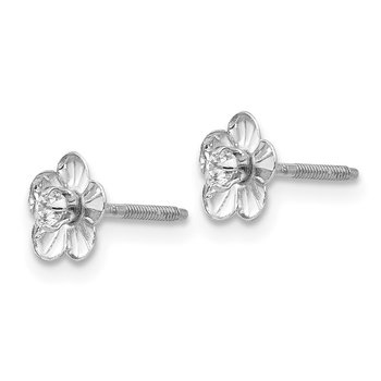 14k White Gold Madi K Flower Earrings